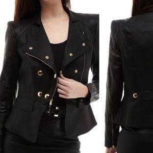 Robert Rodriguez Jackets & Coats - Robert Rodriguez denim-lambskin jacket